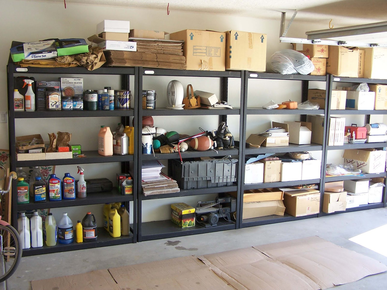 car garage storage shelving ideas