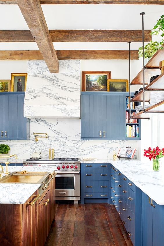 blue marble kitchen reno decorating ideas