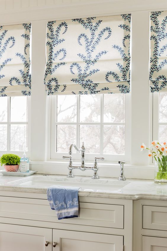 roman shades blinds in the kitchen easy diy decorating reno cheap budget ideas