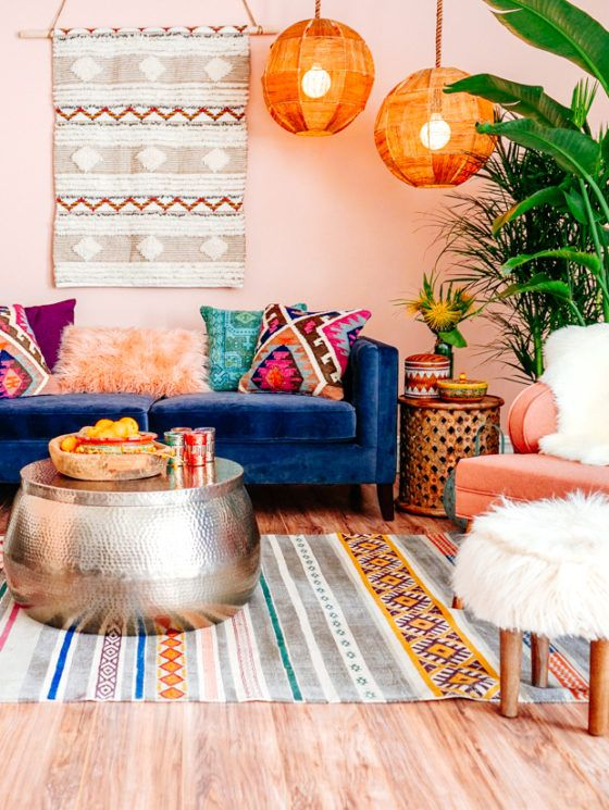 colorful bohemian decorating ideas