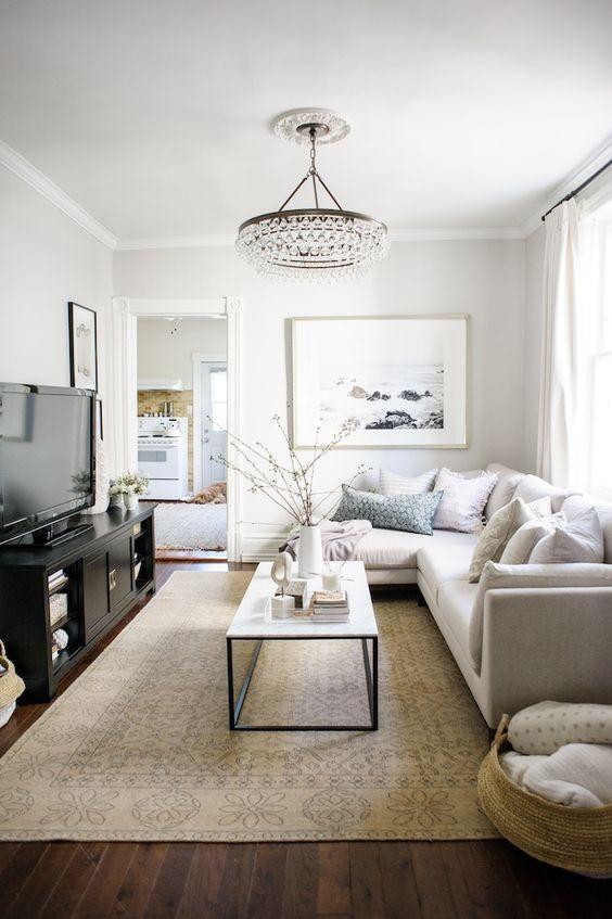 beautiful living room chandelier decorating ideas