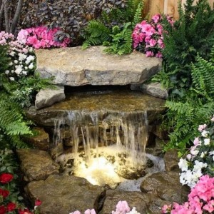 front yard fountain diy