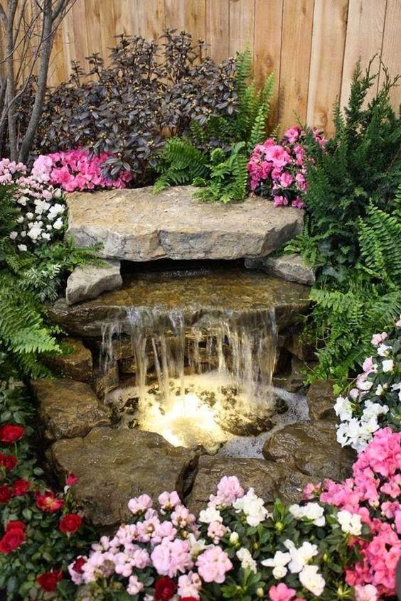 front yard fountain diy