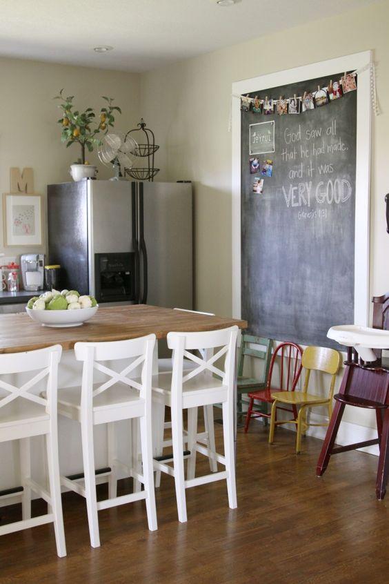 kid child friendly kitchen decor chalkboard