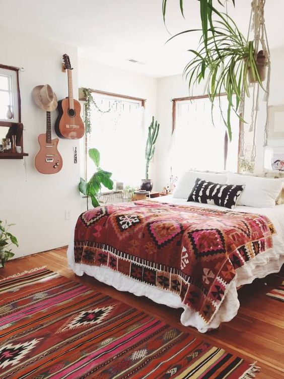 pretty bohemian boho bedroom decor ideas