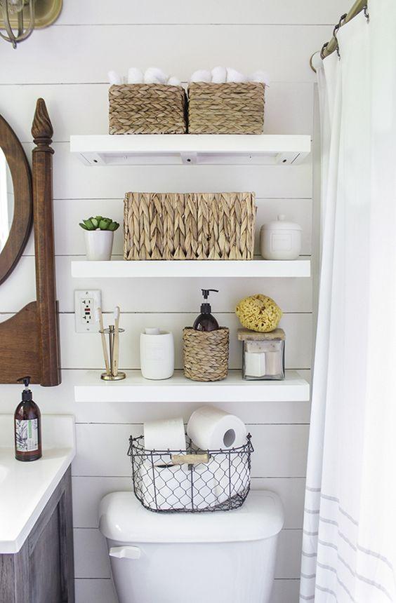 bathroom organization decor ideas baskets