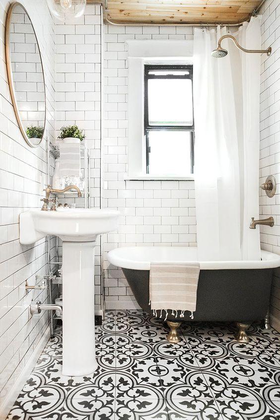 pretty bohemian bathroom tiles decor