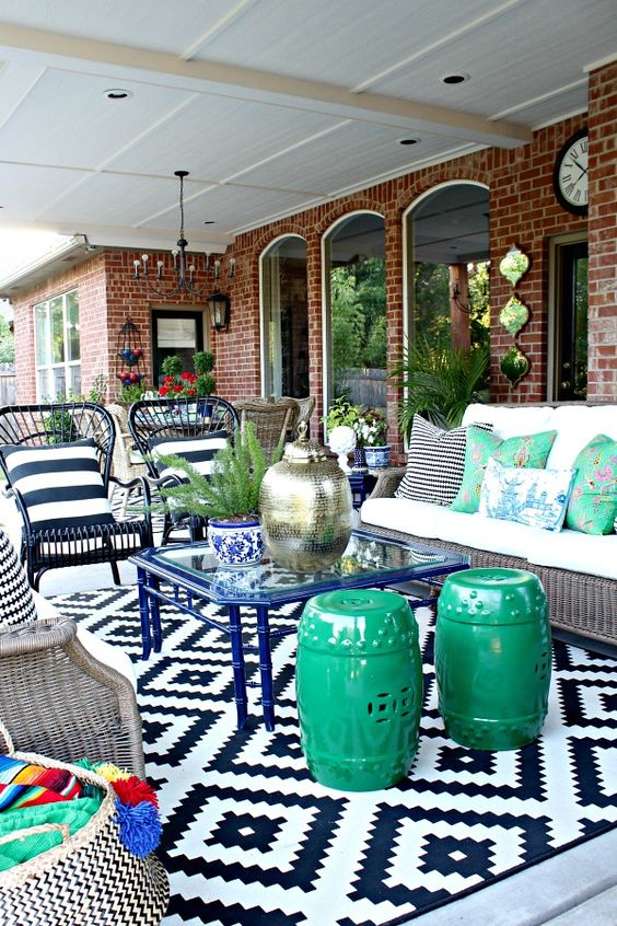 pretty patio decor outdoor rug ideas