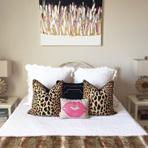 beautiful leopard print pillows girly bedroom decor
