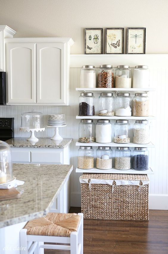 organized kitchen jars ideas