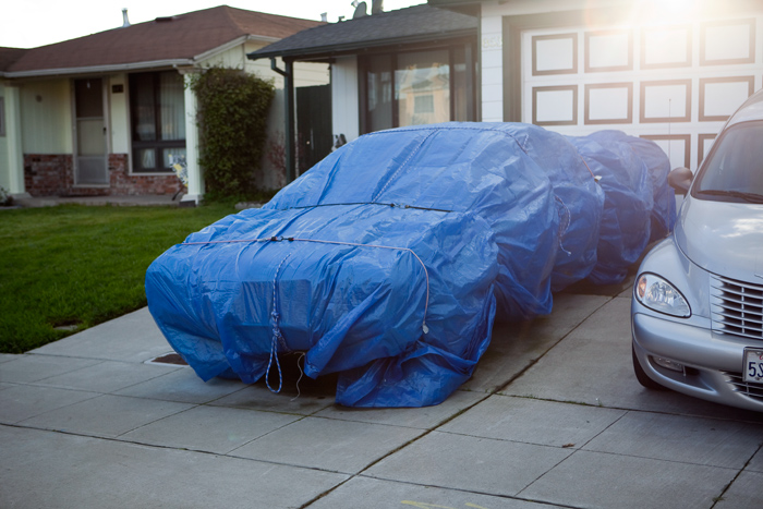 tarp car cover how to ideas