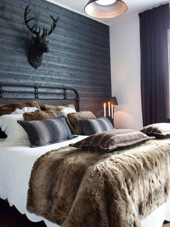 pretty fur bedroom winter ideas