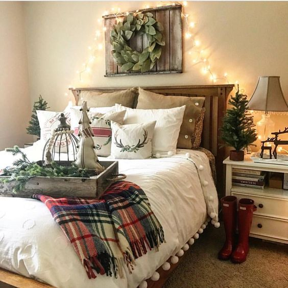 winter flannel bedroom decor ideas