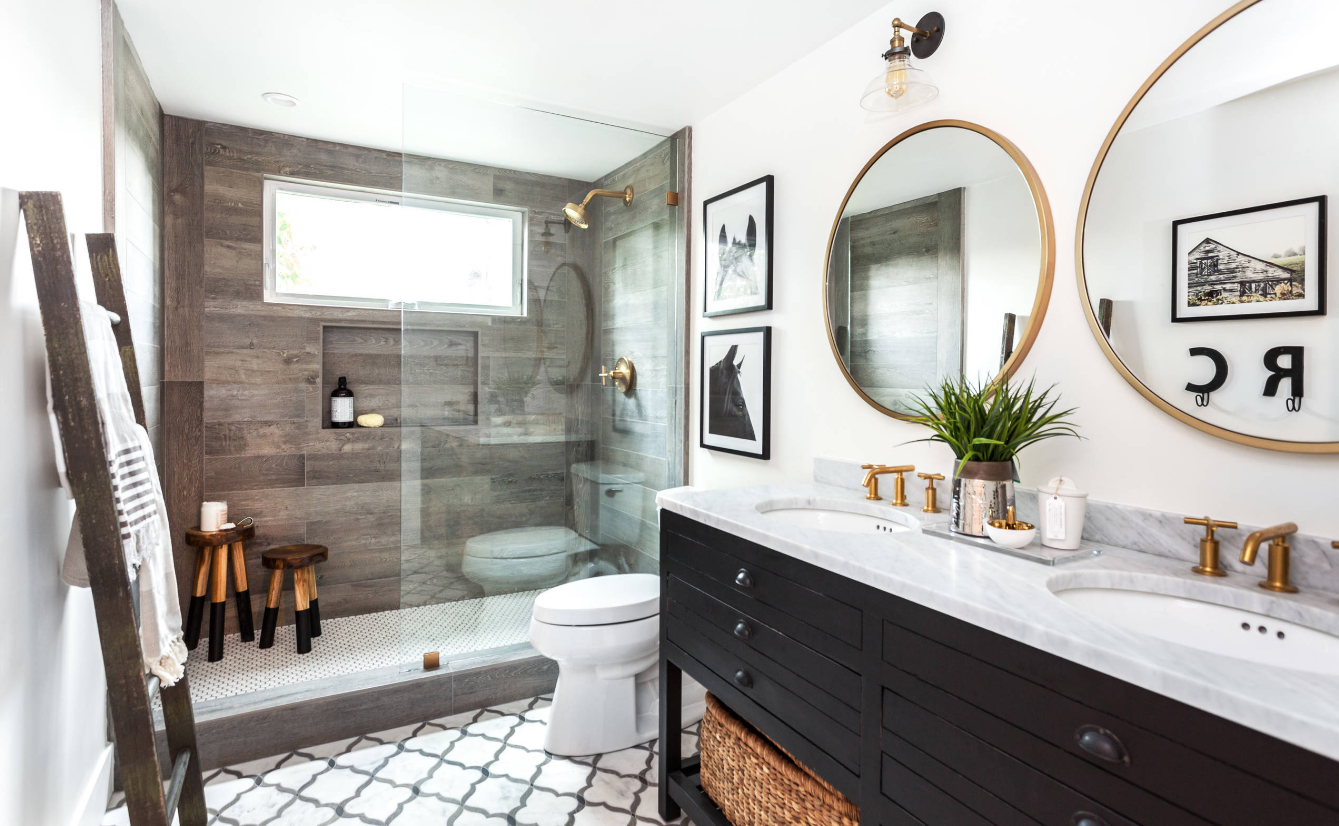 How to Create a Big Bathroom But Spend a Small Budget ...
