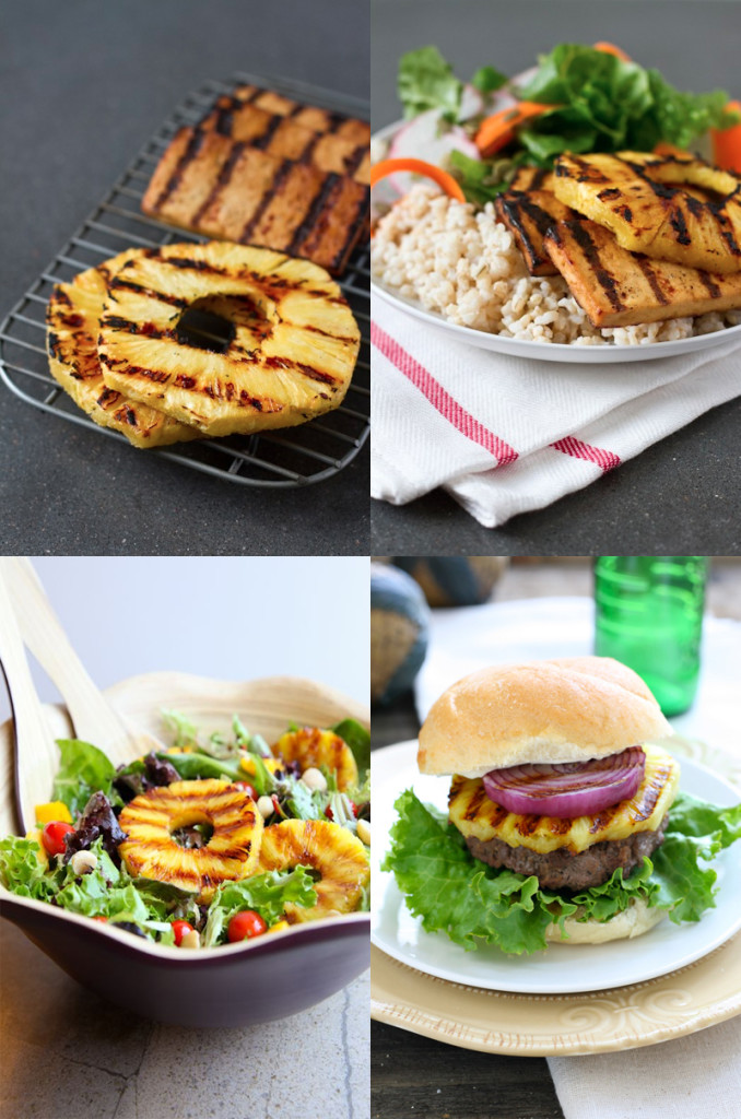 grilled pineapple barbeque sides summer salad hamburger ideas recipes easy
