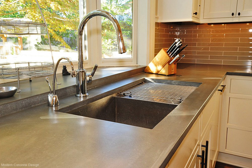 Save Money And Pour Your Own Concrete Kitchen Counter Tops