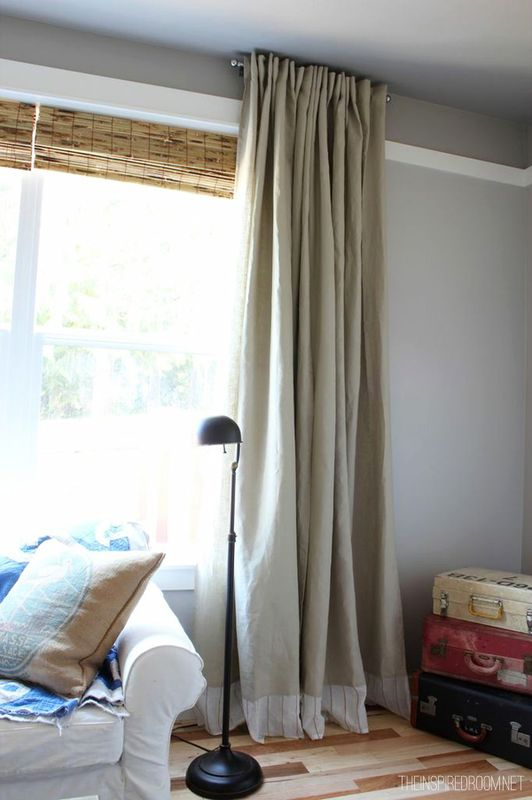 diy curtains easy tassels ribbons