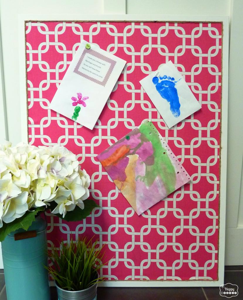 fabric covered bulletin board cork diy organizing bedroom office kitchen
