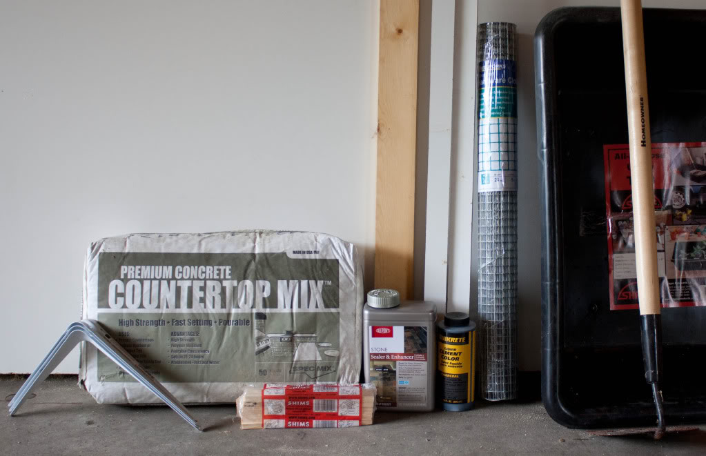 make your own concrete counter tops easy cheap