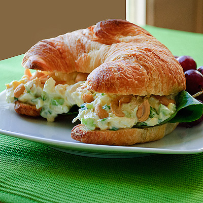 Spice Up Lunch Quick Shrimp Salad Croissant Sandwich Better Housekeeper