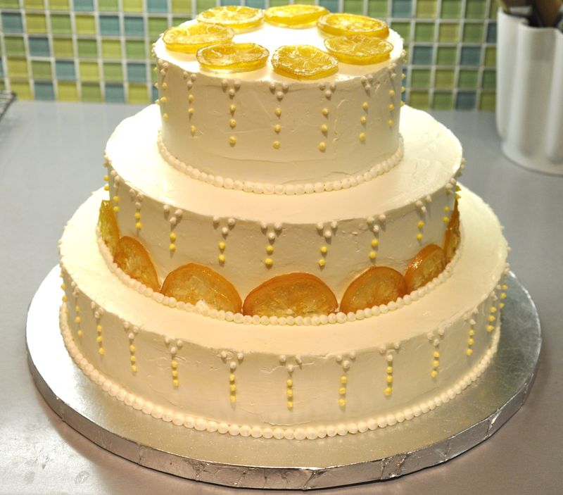 10 Easy Ways to Decorate Cakes - No Need to Be a Pro! candied lemons chocolate shapes cut out easy decorating baking weddings party birthday baby shower powdered sugar cocoa