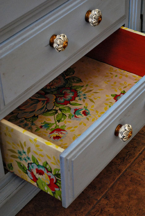 Creative Ways To Use Wallpaper Throughout Your Home wall art line drawers screen cheap budget diy6