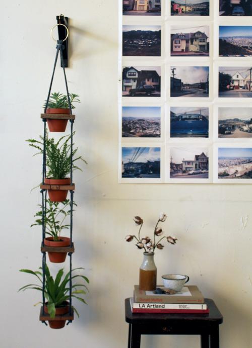 DIY- Tiered Hanging Pots scrap wood rope paint woodworking tools easy quick simple diy plants watering13