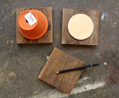 DIY- Tiered Hanging Pots scrap wood rope paint woodworking tools easy quick simple diy plants watering4