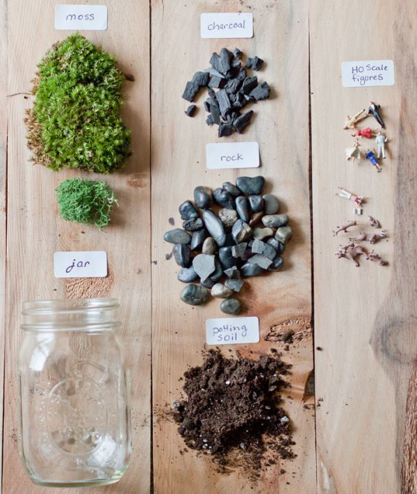 How to Make a Terrarium - Take a Look at these 10 Adorable Ideas diy moss mushrooms gnomes succulents easy diy cute indoor garden container2