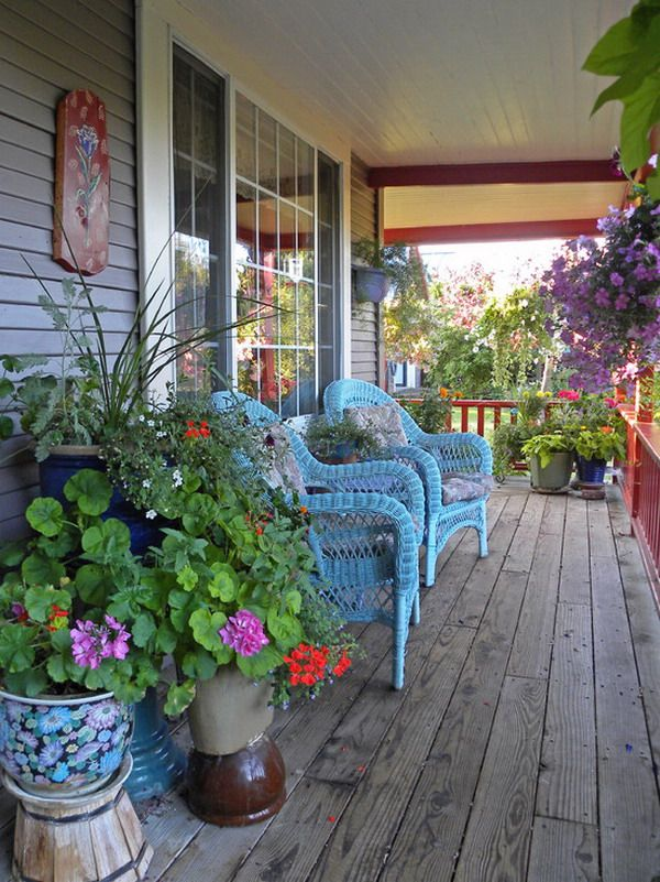 Porch Season - 7 Ideas to Spruce up Your Porch this Summer pillows cushions diy rustic curtains mirror paint the floor diy reuse8