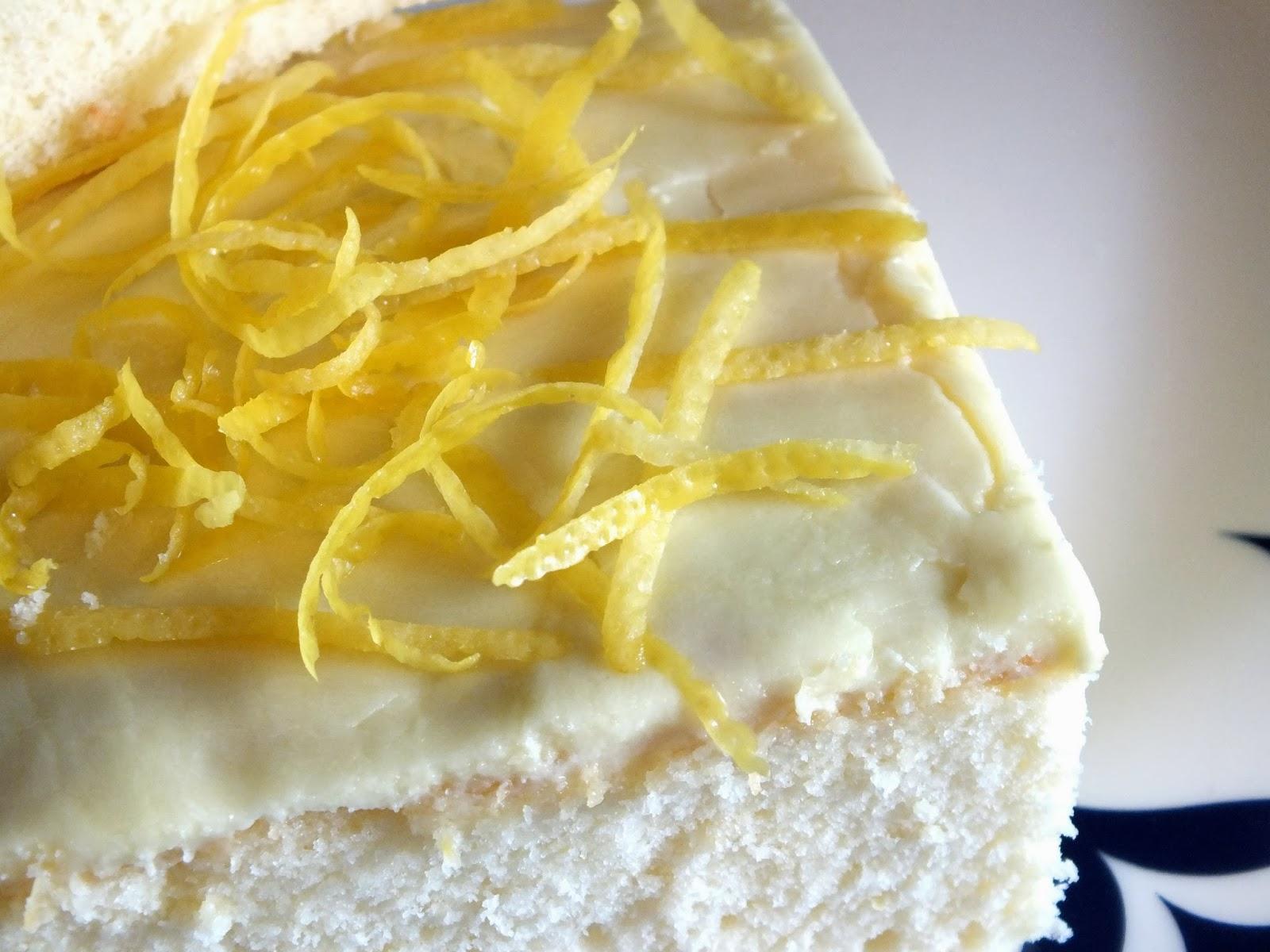 Refreshing Summer Lemon Velvet Cake Squares butter lemon dessert party birthday delicious baking3