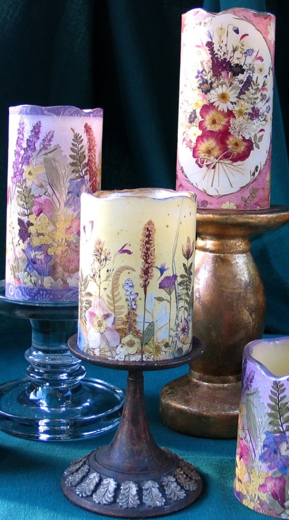 DIY - 10 Ways to Use Pressed Flowers candles gifts decor art wall art easy diy1