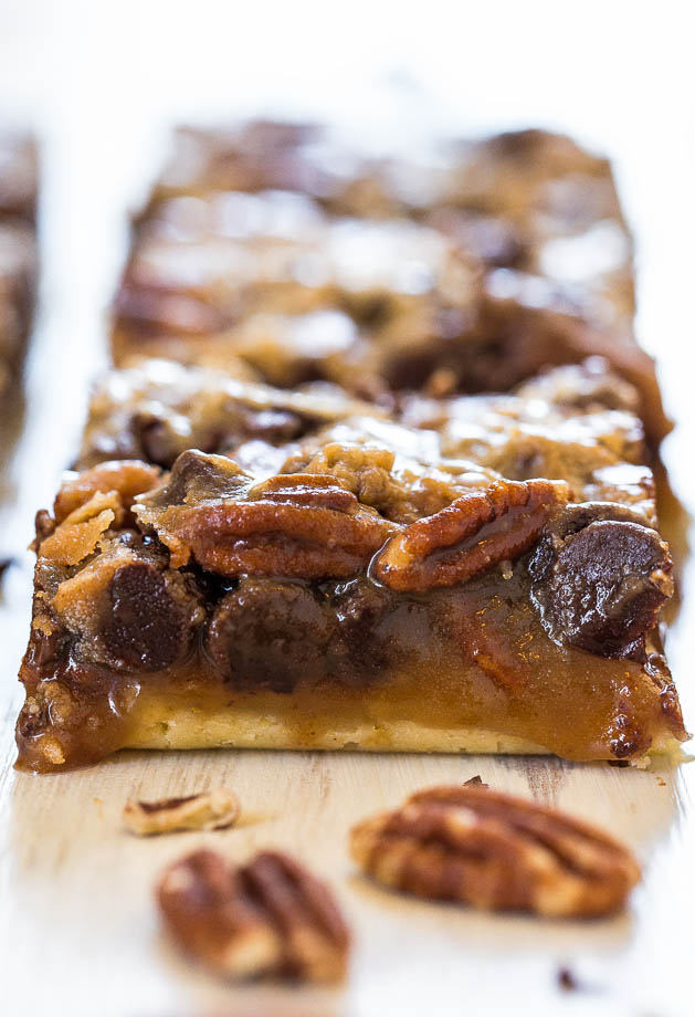 Perfect for Fall: Delicious Salted Caramel and Chocolate Pecan Pie Bars2