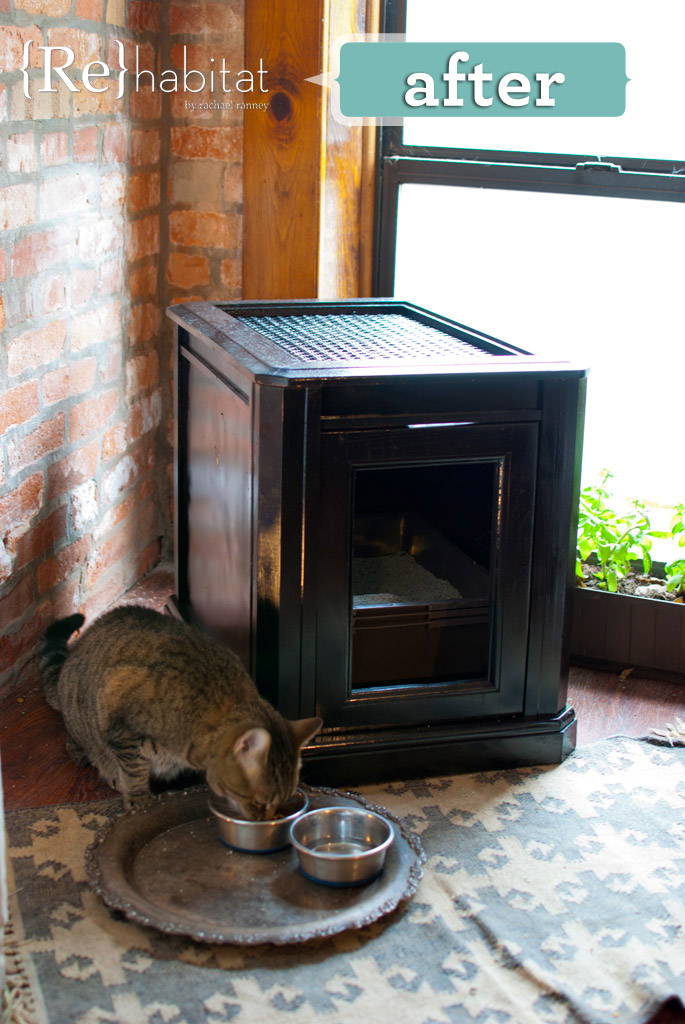 10 Ways to Hide Your Cat's Litter Box ikea hack cabinet salvage repurpose budget4