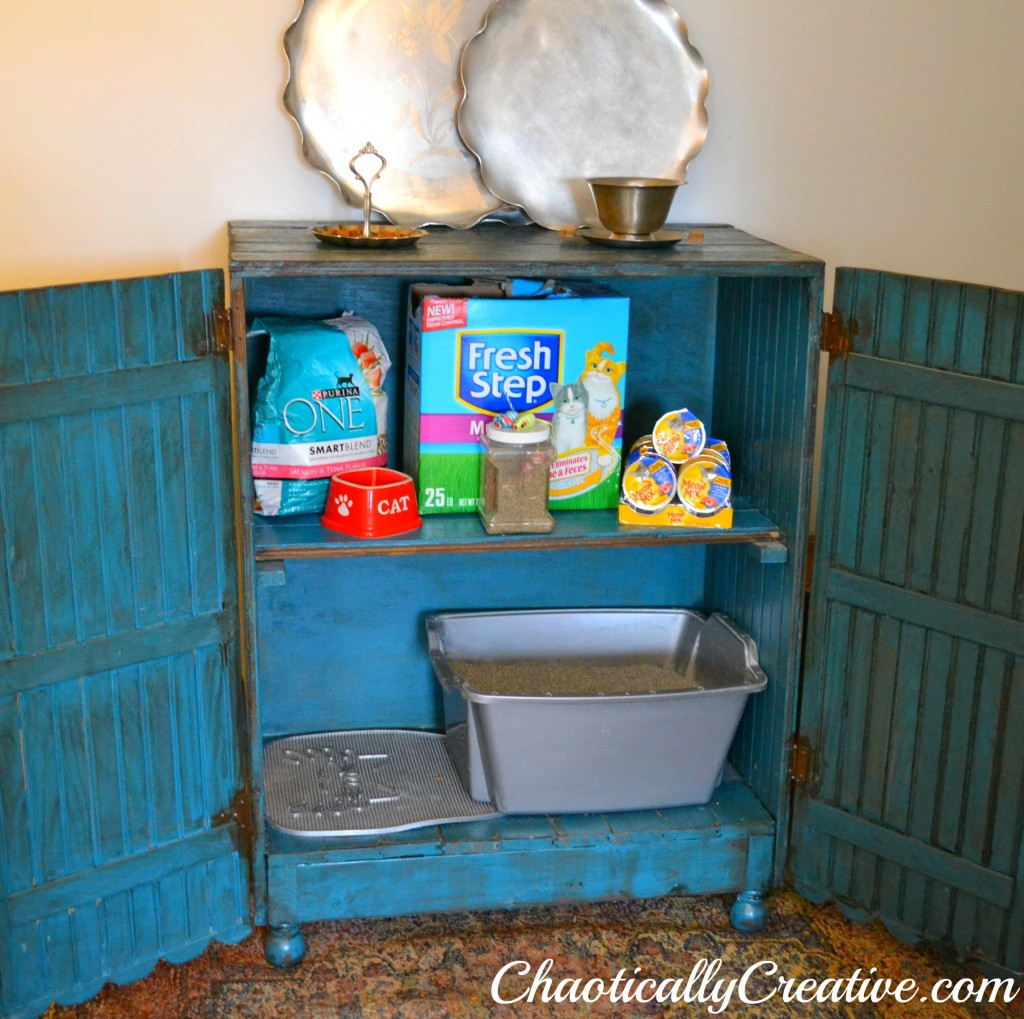 10 Ways to Hide Your Cat's Litter Box ikea hack cabinet salvage repurpose budget9