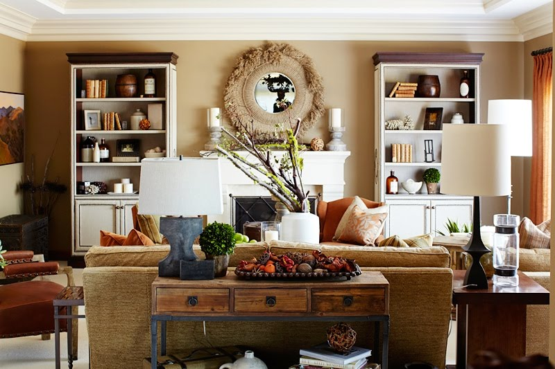 8 Ways to Decorate Your Home This Fall decor orange red neutral pumpin pillows autumn1