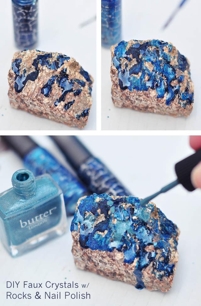 DIY- Make These Faux Crystals Using Nail Polish!2