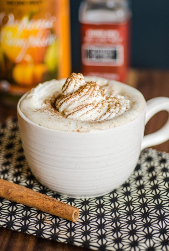 How to Make REAL Pumpkin Spice Latte - Tastes Just Like StarBucks! fall pumpkin coffee homemade easy whipped cream spices1