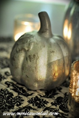 Make These Faux Mercury Glass Pumpkins Using Dollar Store Finds!10