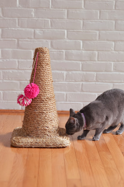 Pet DIY- Make a Cat Scratching Post Out of a Traffic Cone!1