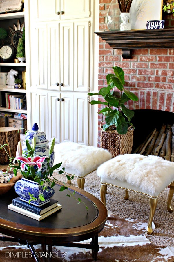 DIY- Salvage a Footstool and Make This Gorgeous Fur Ottoman4