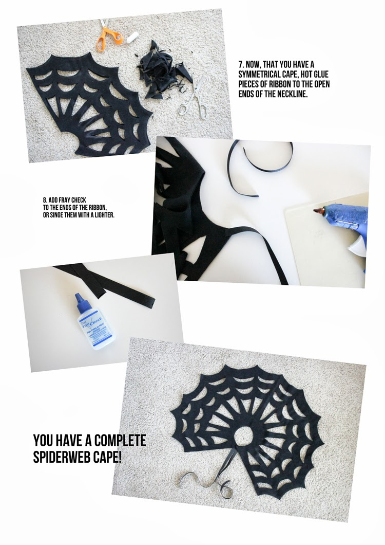 Halloween DIY: Make This No-Sew Spiderweb Cape!3