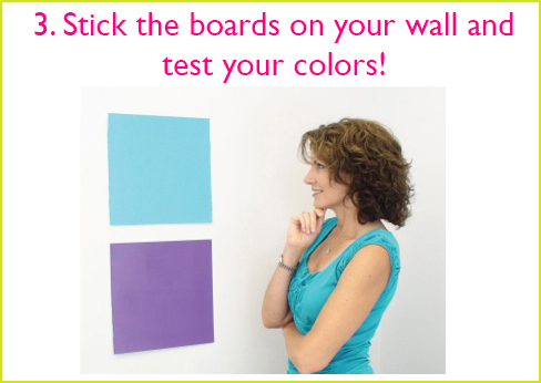 small wall paint sample boards no more paint chips how to test new all colors better housekeeper blog as seen on tv reusable