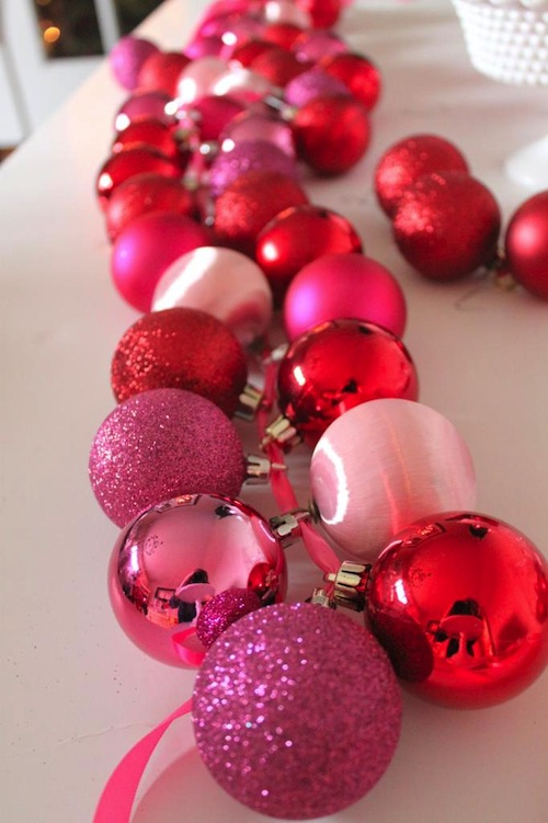 Christmas DIY: Make This Glam Ornament Garland budget diy project craft holidays decor decorations3
