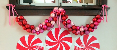 Christmas DIY: Make This Glam Ornament Garland budget diy project craft holidays decor decorations4
