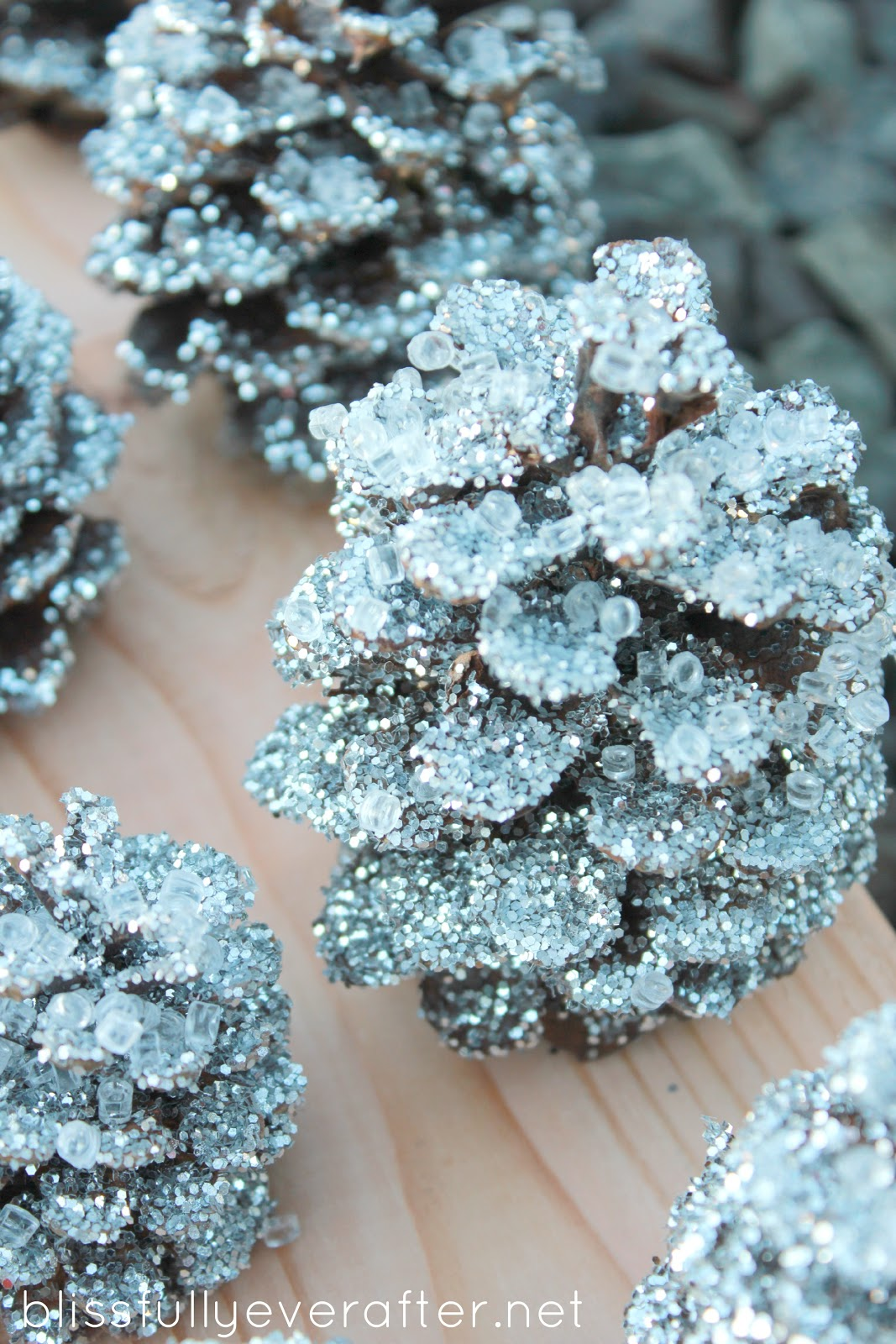 DIY: Glittery Pottery Barn Pinecones8