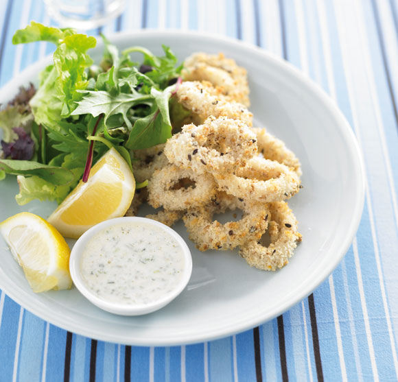 Healthy Eating: Crispy Oven-Fried Calamari2