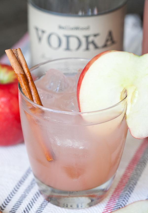 Homemade Apple Cider Cocktail cinnamon apples fall autumn1
