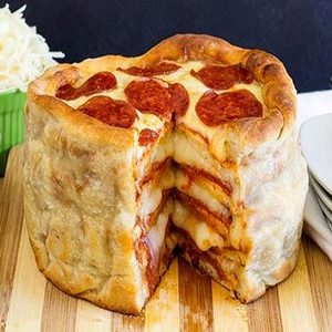 Prime How To Make The Ultimate Pizza Birthday Layer Cake You Wont Want Funny Birthday Cards Online Alyptdamsfinfo