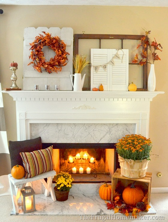 Mantle Decor 101: Take a Look at This Fall Fireplace 1